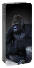 Portrait Of A Male Gorilla Portable Battery Charger