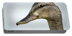 Portrait Of A Mallard Portable Battery Charger