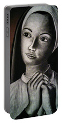 Portrait Of A Nun Portable Battery Charger