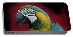 Portable Battery Charger featuring the photograph Portrait Of A Parrot by Jeff Burgess