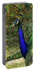 Portable Battery Charger featuring the photograph Portrait Of A Peacock by Jessica Brawley