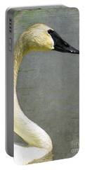 Portrait Of A Pond Swan Portable Battery Charger by Nina Silver