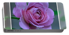 Portrait Of A Rose Portable Battery Charger by Kathy Eickenberg
