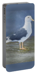 Portrait Of A Seagull Portable Battery Charger