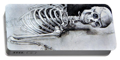 Portrait Of A Skeleton Portable Battery Charger