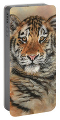 Portrait Of A Tiger Cub Portable Battery Charger