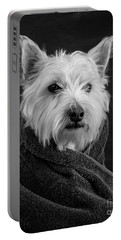 Portable Battery Charger featuring the photograph Portrait Of A Westie Dog 8x10 Ratio by Edward Fielding