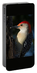 Portrait Of A Woodpecker Portable Battery Charger