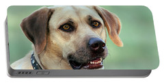 Portrait Of A Yellow Labrador Retriever Portable Battery Charger