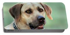 Portrait Of A Yellow Labrador Retriever Portable Battery Charger