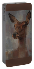 Portrait Of A Young Doe Portable Battery Charger