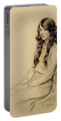 Portrait Of A Young Girl Portable Battery Charger
