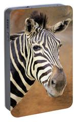 Portable Battery Charger featuring the photograph Portrait Of A Zebra by Rosalie Scanlon