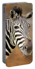 Portable Battery Charger featuring the photograph Portrait Of A Zebra by Rosalie Scanlon