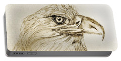Portrait Of An Eagle Portable Battery Charger
