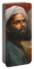 Portrait Of An Indian Sardar Portable Battery Charger by Edwin Frederick Holt