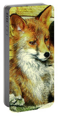 Portrait Of An Urban Fox Portable Battery Charger