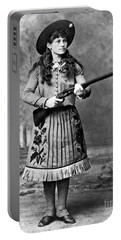 Portrait Of Annie Oakley Portable Battery Charger