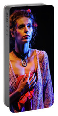 Portable Battery Charger featuring the photograph Portrait Of Ballet Dancer In Pose On Stage by Dimitar Hristov