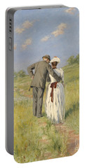 Portrait Of Captain William Holmes And Mary Shafter Mckitterick Portable Battery Charger