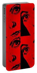 Portrait Of Catherine Pop Art Design Portable Battery Charger