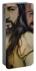 Portrait Of Cristo Soto Portable Battery Charger by Ron Richard Baviello