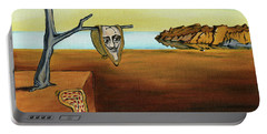 Portrait Of Dali The Persistence Of Memory Portable Battery Charger