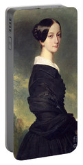 Portrait Of Francisca Caroline De Braganca Portable Battery Charger