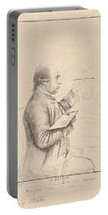 Portrait Of George Stubbs By James Bretherton Portable Battery Charger