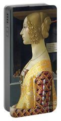 Portrait Of Giovanna Degli Albizzi Tornabuoni Portable Battery Charger