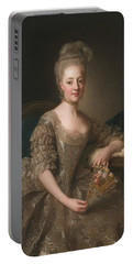Portrait Of Hedwig Elizabeth Charlotte Of Holstein-gottorp  Portable Battery Charger