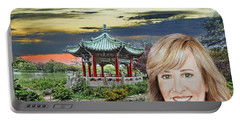 Portrait Of Jamie Colby By The Pagoda In Golden Gate Park Portable Battery Charger by Jim Fitzpatrick