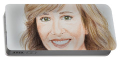 Portrait Of Jamie Colby Portable Battery Charger