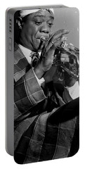Portrait Of Louis Armstrong Portable Battery Charger