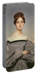 Portrait Of Louise Vernet Portable Battery Charger