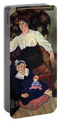 Portrait Of Marie Coca And Her Daughter Portable Battery Charger