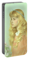 Portrait Of Miss Adele Donaldson, 1897 Portable Battery Charger