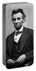 Portrait Of President Abraham Lincoln Portable Battery Charger by International  Images