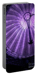 Portrait Of Purple Cosmic Berlin Portable Battery Charger
