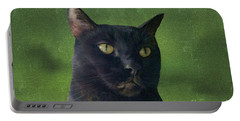 Portable Battery Charger featuring the photograph Portrait Of Salem The Cat by Lee Boyd and Janette Boyd