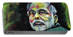 Portrait Of Shri Narendra Modi Portable Battery Charger