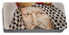 Portrait Of The Pro Wrestler Known As The Iron Sheik Portable Battery Charger