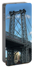 Portrait Of The Williamsburg Bridge Portable Battery Charger