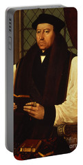 Portrait Of Thomas Cranmer Portable Battery Charger