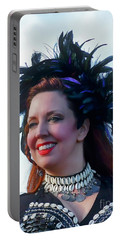 Portrait Of Traci Portable Battery Charger by Kathy Baccari
