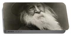 Portrait Of Walt Whitman Portable Battery Charger