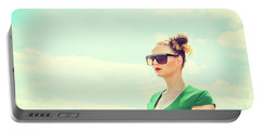 Portrait Of Young Woman Portable Battery Charger