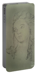 Portrait Of Elisabeth Vigee Le Brun Portable Battery Charger by Maja Sokolowska