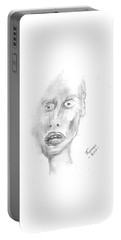 Portrait With Mechanical Pencil Portable Battery Charger