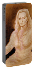 Portrait Woman In Bright Dress Portable Battery Charger